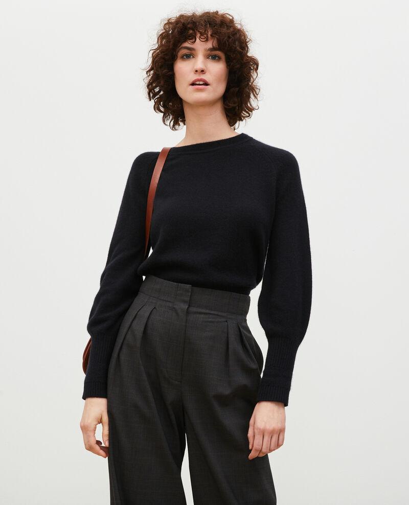 Jersey de cachemir con mangas abullonadas Black beauty Migny
