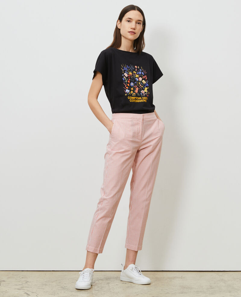 Camiseta de algodón manga corta Black beauty Marcelin