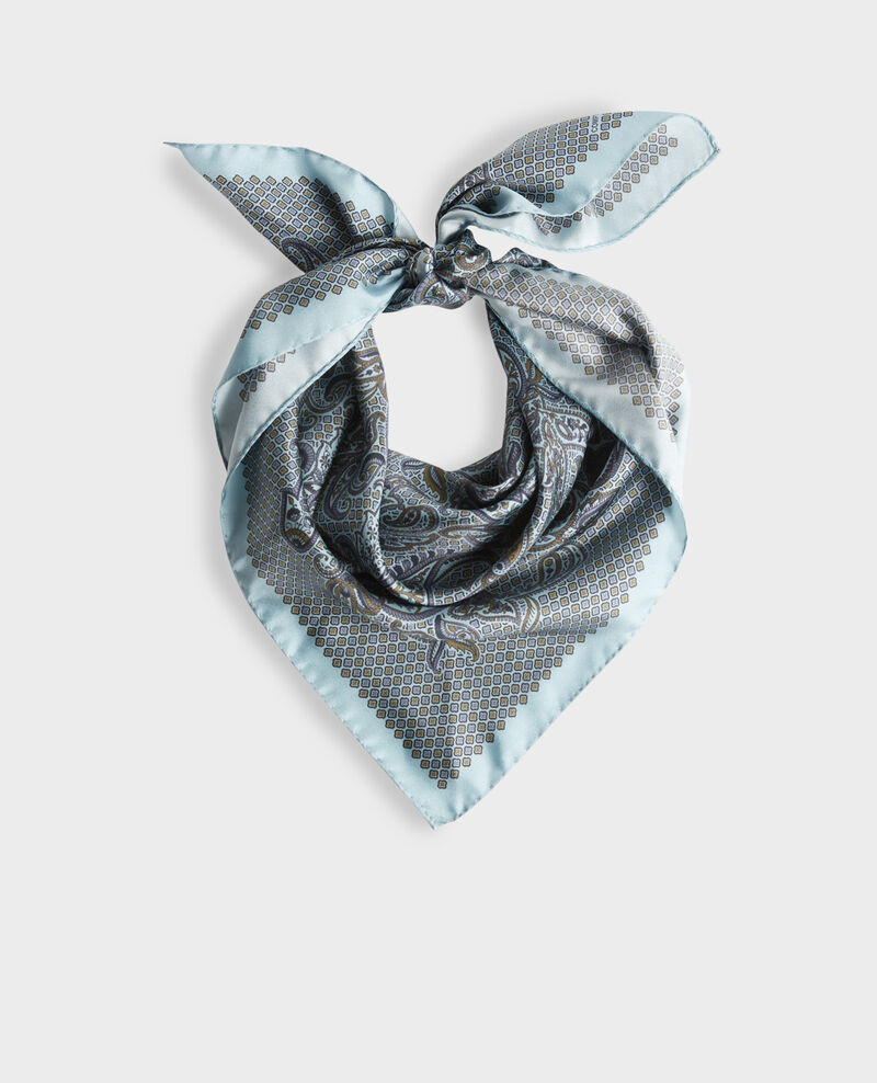 Pañuelo de seda estampado Stone blue Pachemire