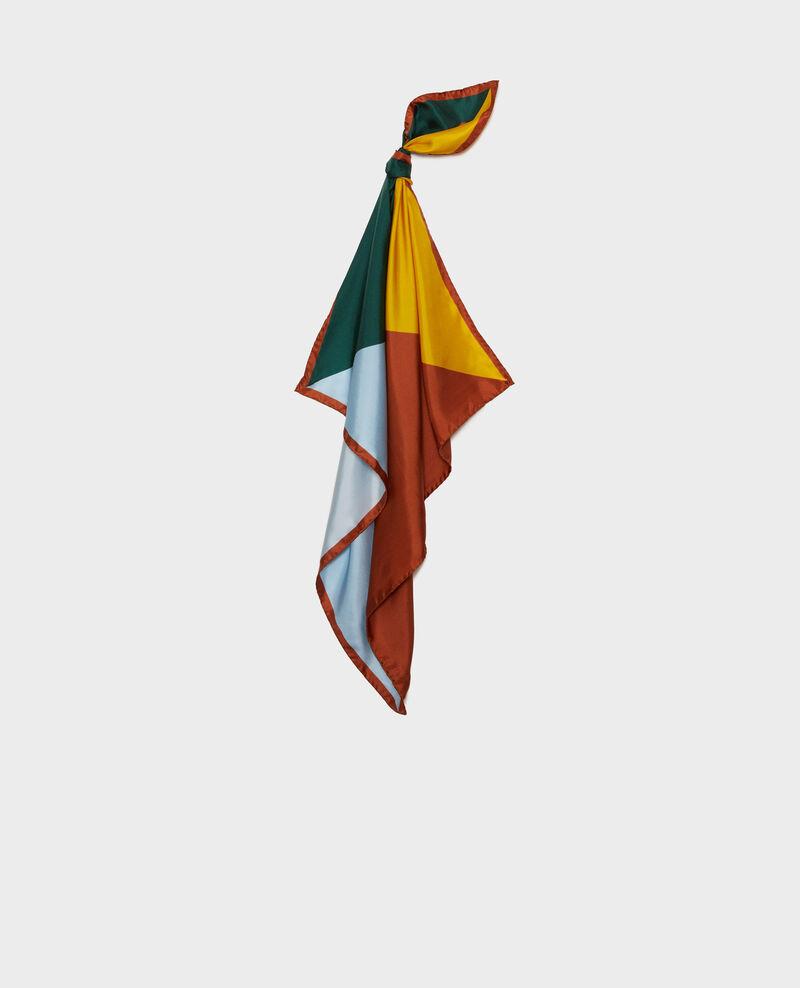 Foulard cuadrado de seda multicolor Lemon curry Massana
