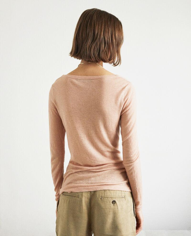 Jersey de lana con cuello redondo Pink beige Idouard