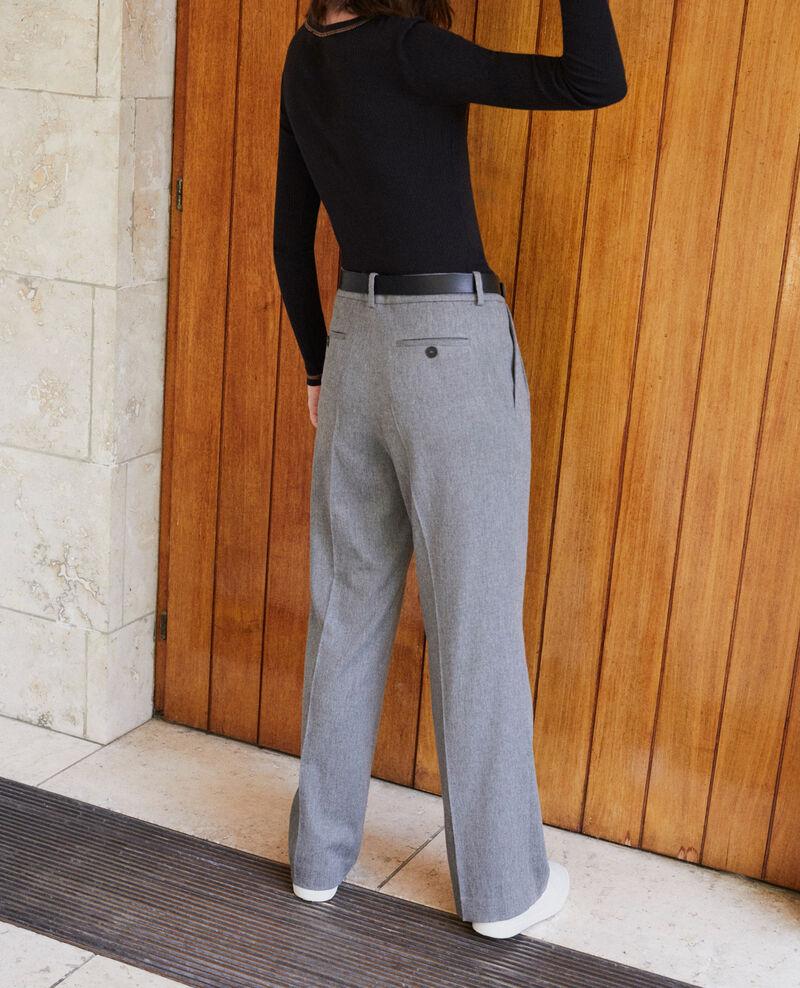 Pantalón de corte amplio Gris Gorgono
