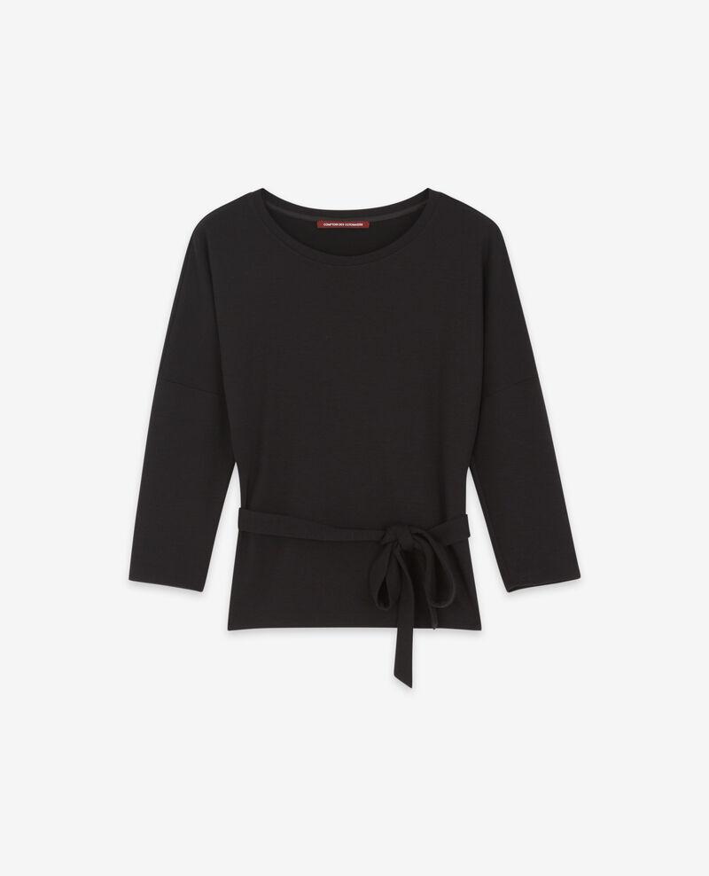 Sudadera con cinturón de lana Noir Debongout