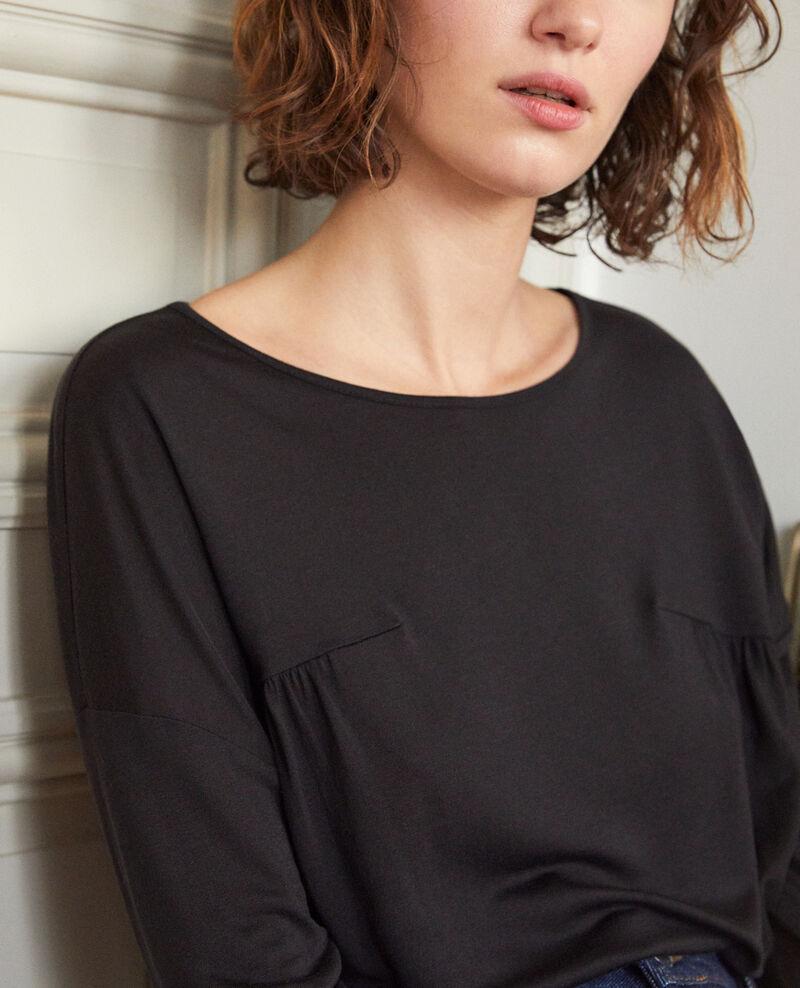 Camiseta de cuello redondo Negro Graziela