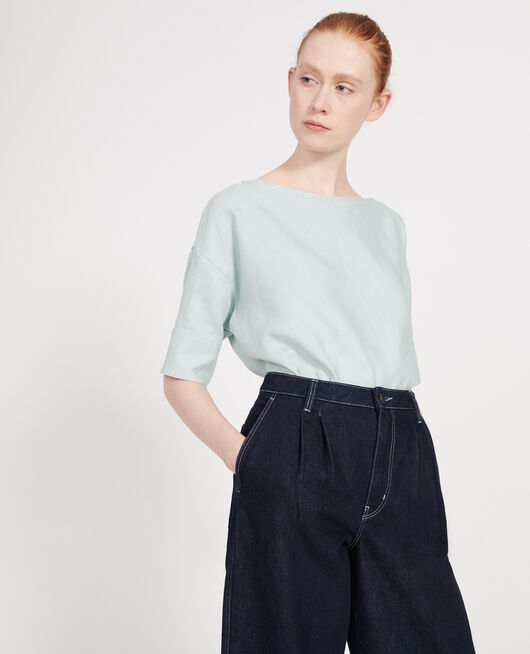 Blusa de lino BLUE HAZE