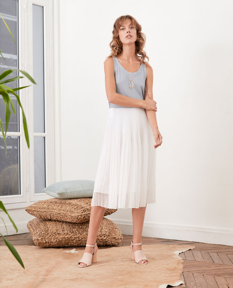 Falda plisada Blanc Florie