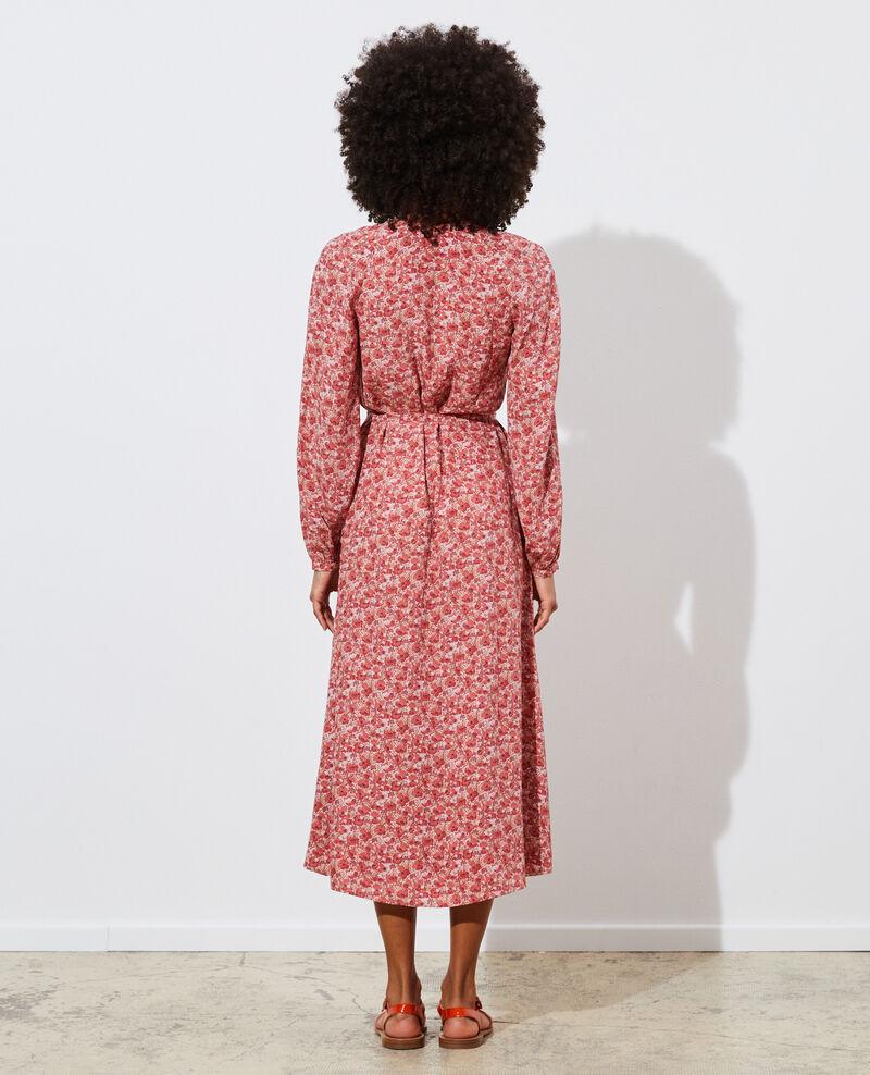 Vestido largo de seda Art deco pink Pavisha
