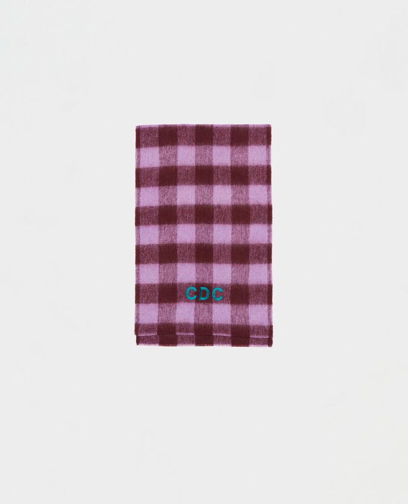"Maxi bufanda de lana con bordado ""CDC"" Pastel lilac Maxou"