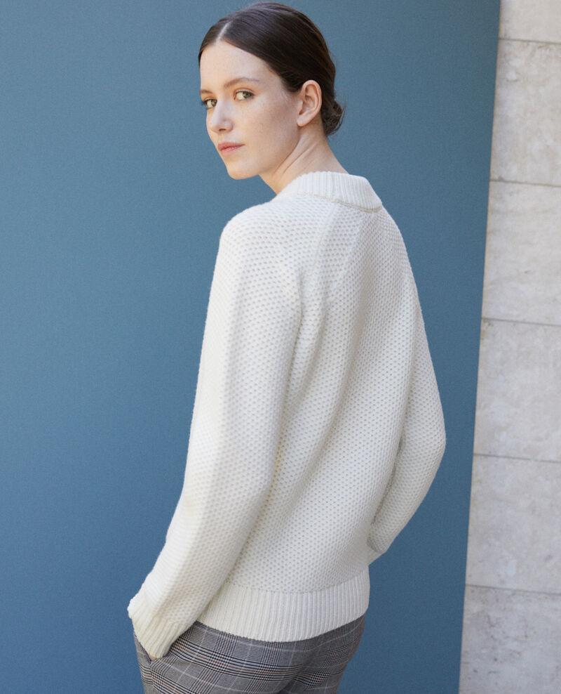 Jersey de lana Off white Ginseng