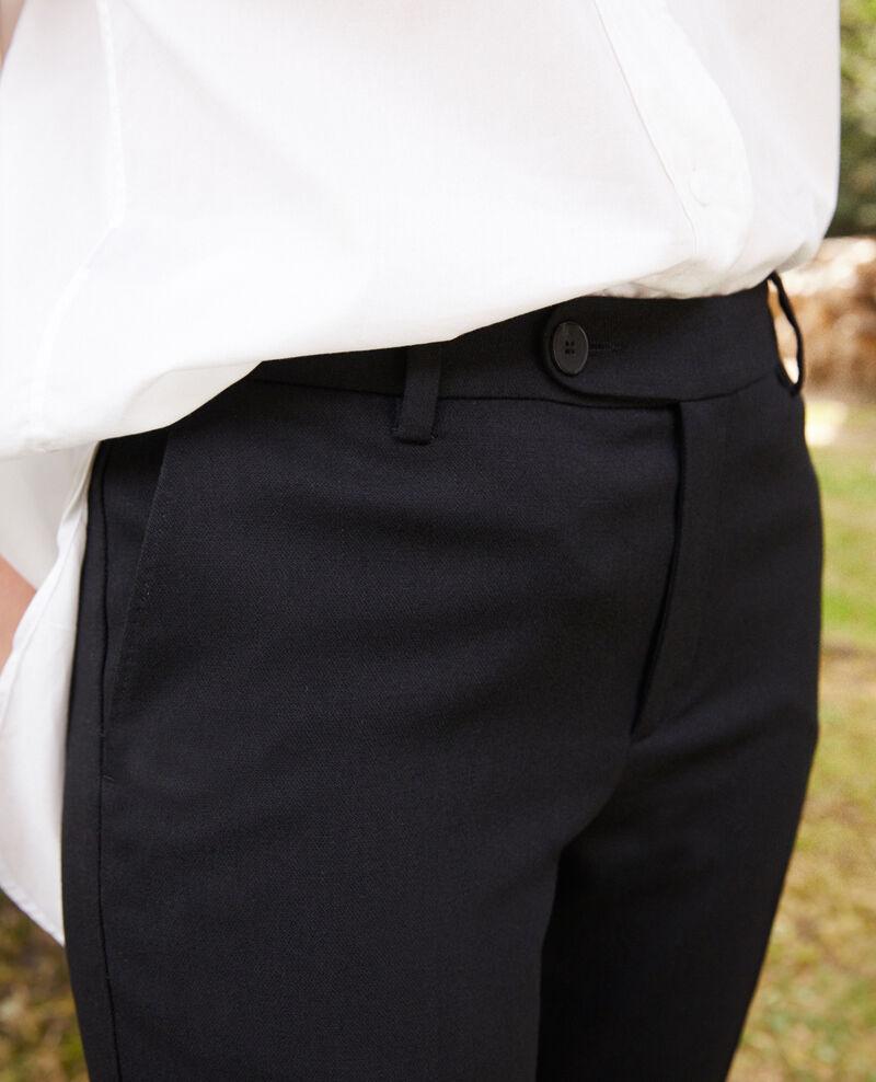 Pantalón corte carrot Noir Jokyo