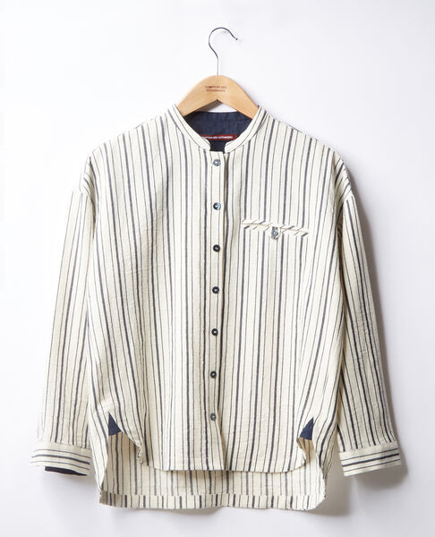 Comptoir des Cotonniers - Camisa rayada Off white/navy stripes - 3