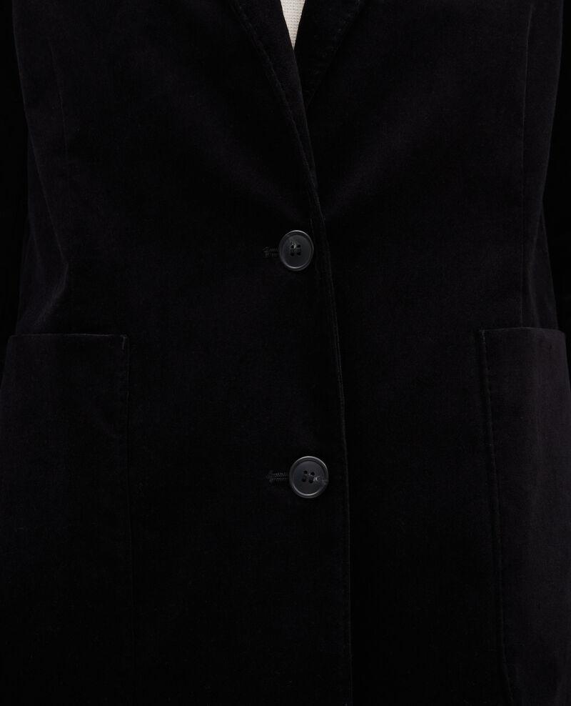 Blazer de  terciopelo con dos botones Black beauty Muscade