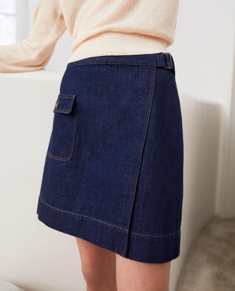Falda jeans cruzado Rinse Iflari