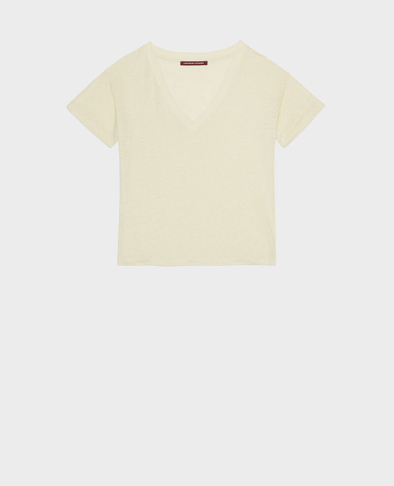 Camiseta de lino de jersey Tender yellow Locmelar
