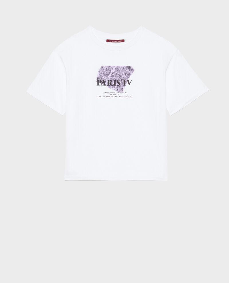 Camiseta de algodón manga corta Pastel lilac Mariette