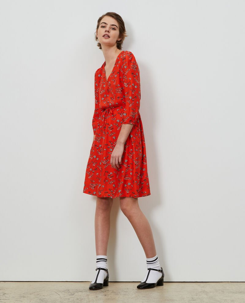 Vestido amplio de seda Coronille spicy Novis