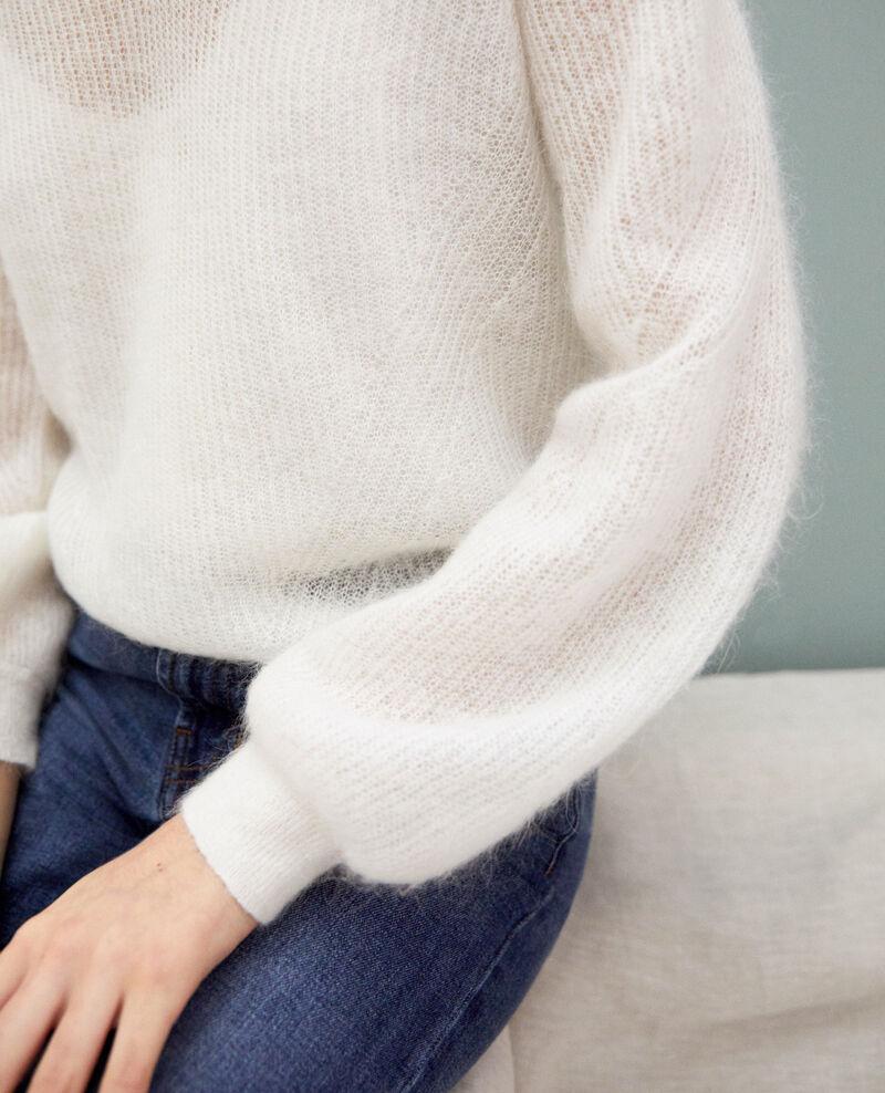 Jersey de cuello de pico con mohair Blanc Iceve