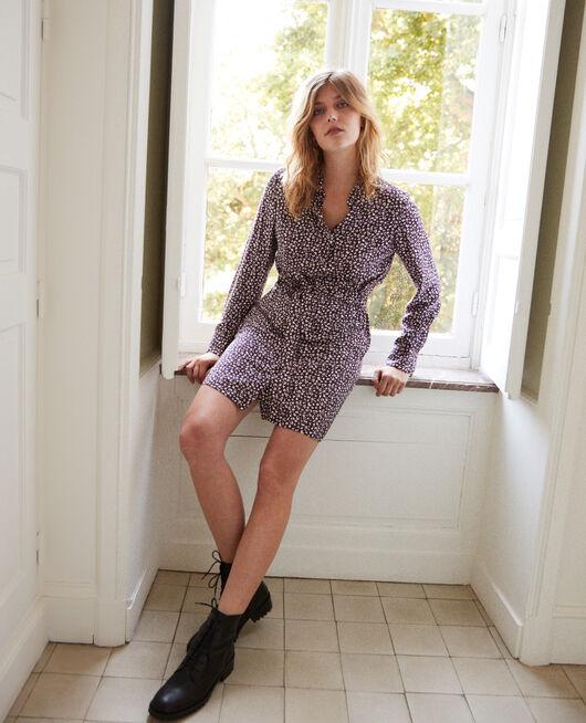 Falda estampada LEOPARD POTENT PURPLE