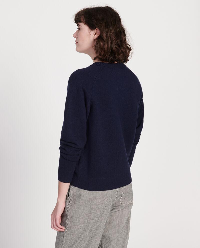 Cárdigan atemporal de lana Maritime blue Louvres
