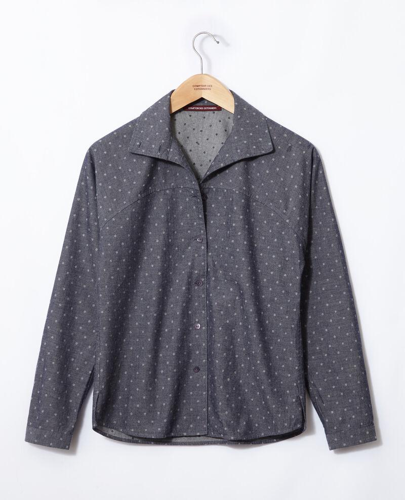 Camisa de corte recto Azul Gosy