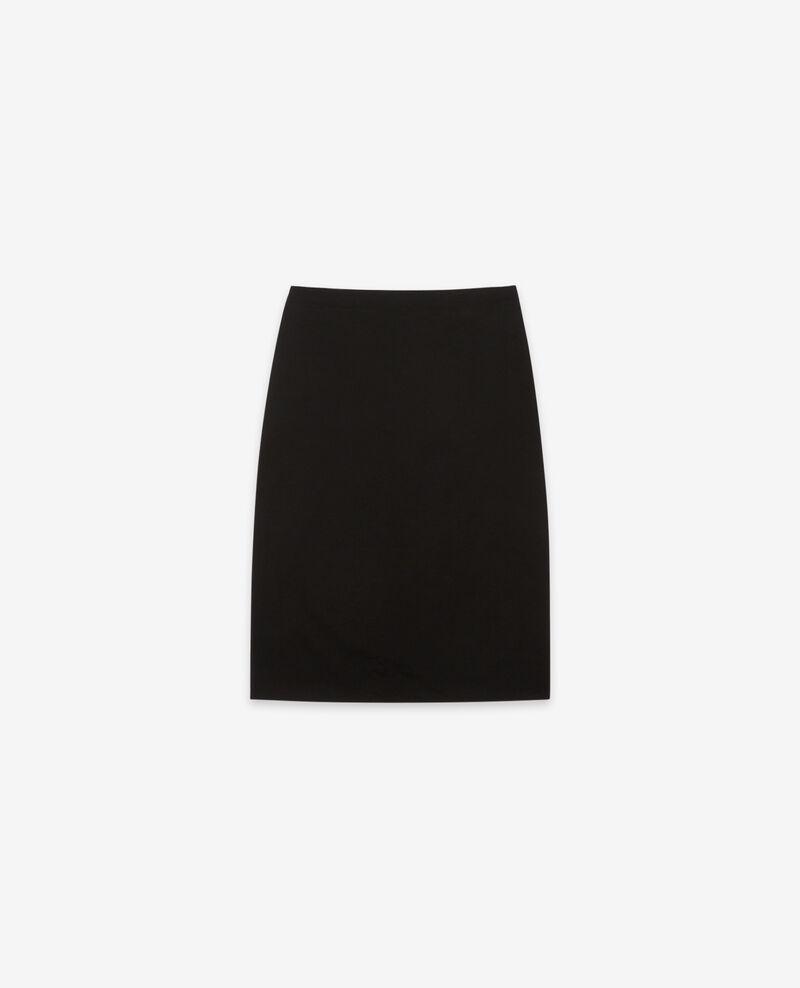 Falda de terciopelo Noir Daplomber