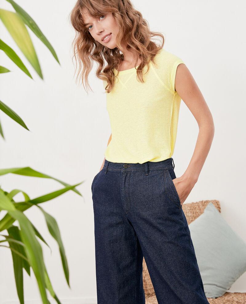 Camiseta irisada con lino Lemonade Falexia