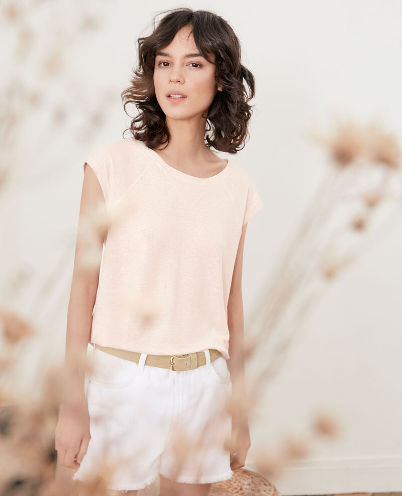 Camiseta irisada con lino Nude Falexia