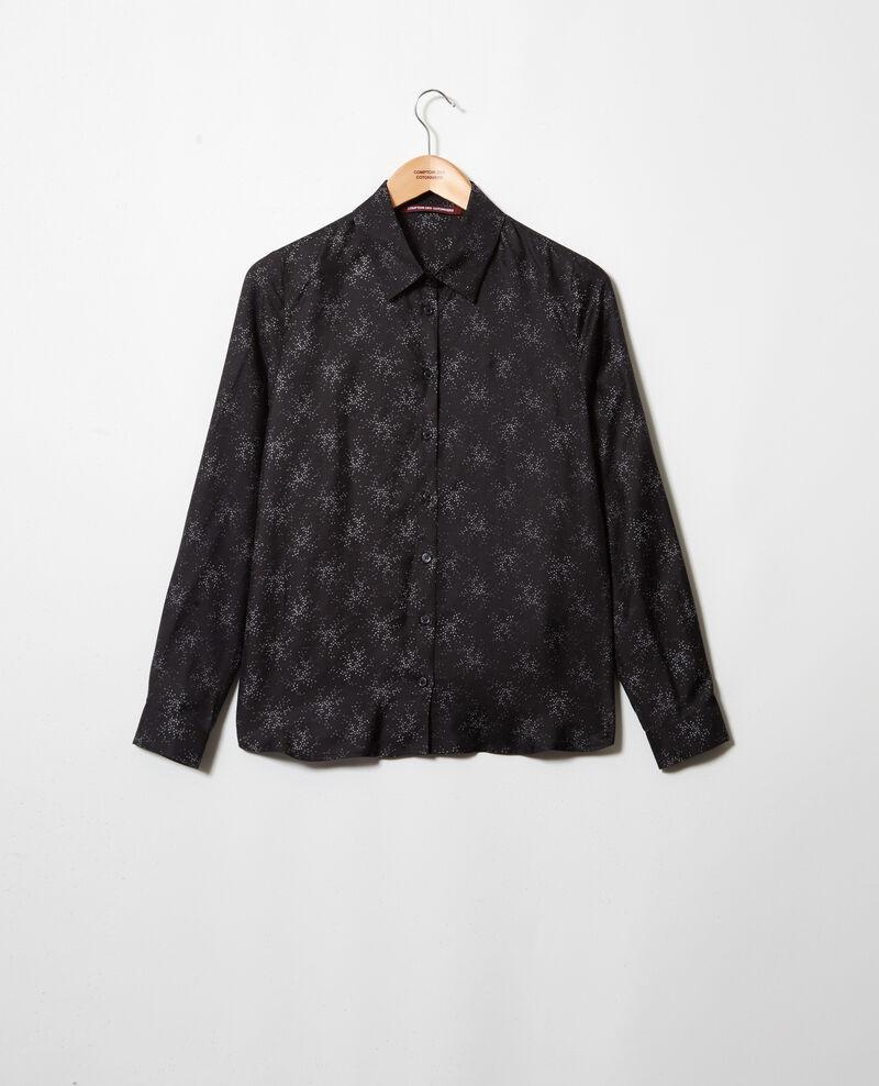 Camisa de corte recto Hurly burly noir Iclim