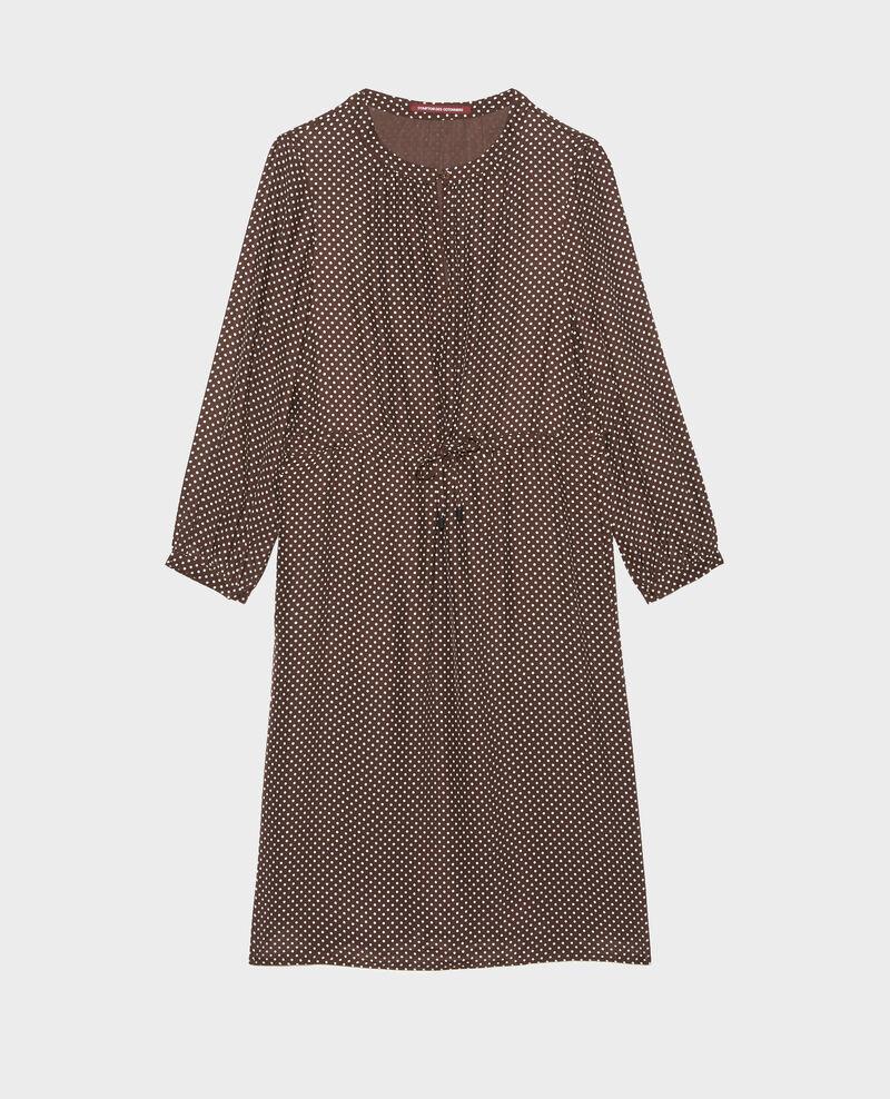 Vestido amplio de seda Little pois coffee bean Megrisa