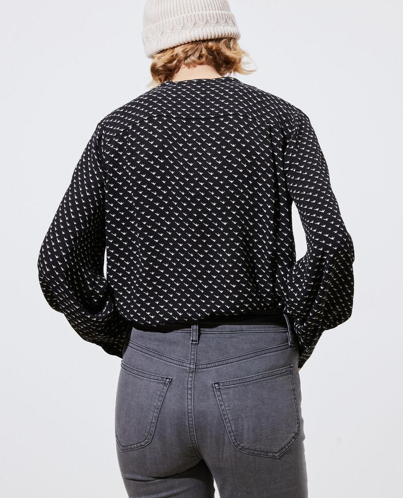 Blusa estampada Birdy black Parare