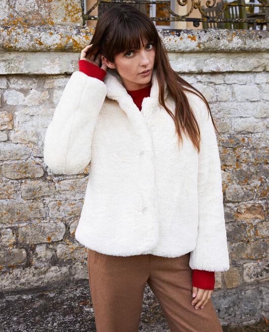 Abrigo corto de piel sintética OFF WHITE