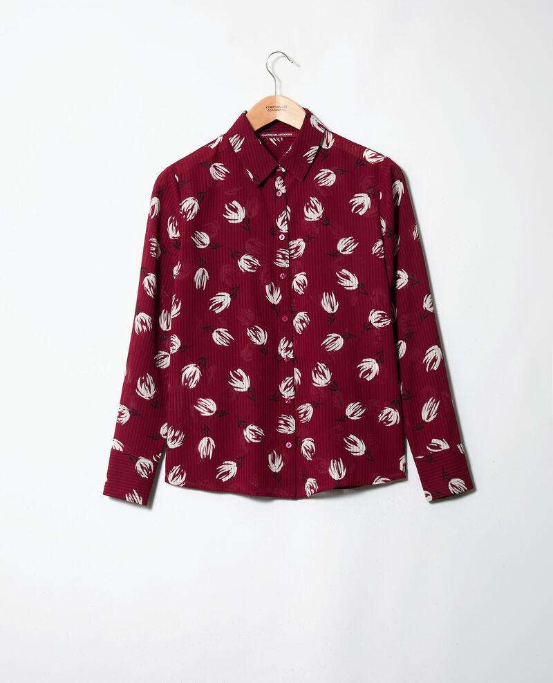 Camisa estampada Tulip cabernet Jindia