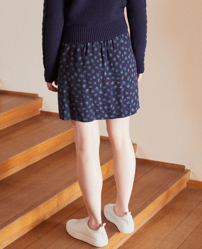 Falda corta estampada Azul Gobolt