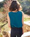 Camiseta de seda sin mangas Turquoise Icon