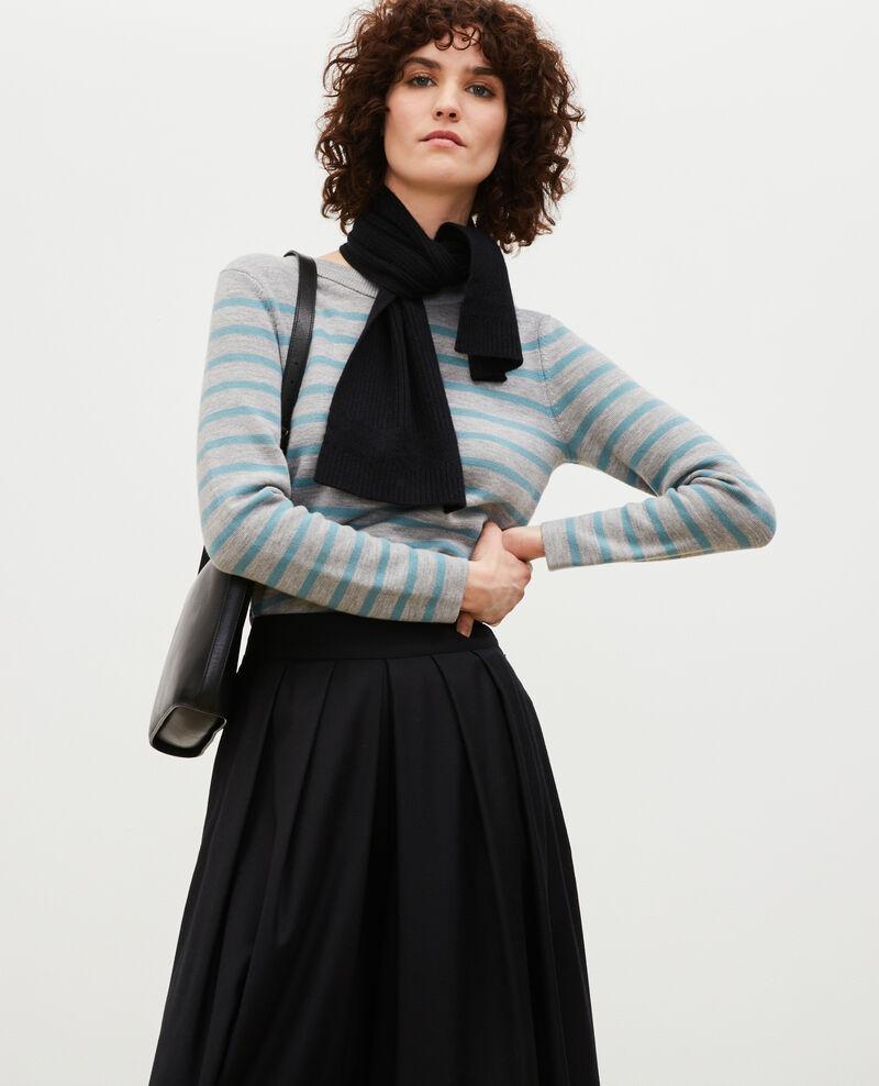 Jersey marinero de lana Str_ltgry_ trs Liselle