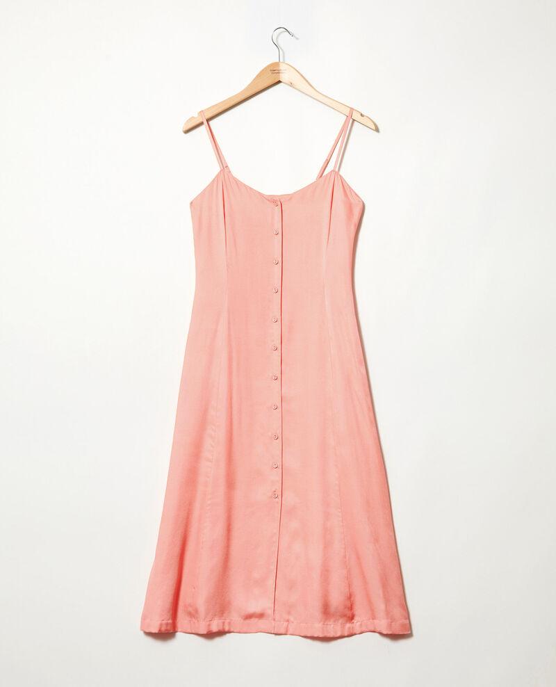 Vestido con seda Salmon pink Ibriella