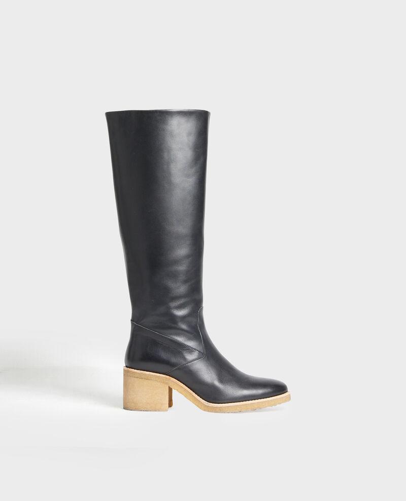 Botas de cuero con suela de crepé Black beauty Mayenne