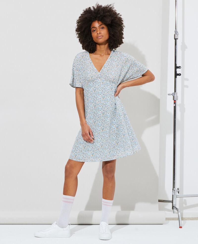 Vestido corto de seda Art deco blue Pabydoll