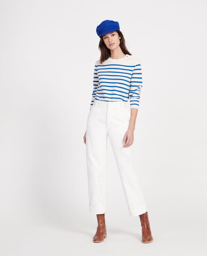 Pantalón con bolsillos Optical white Laora