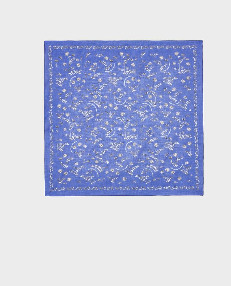 Bandana de algodón estampado Royal blue Noronille