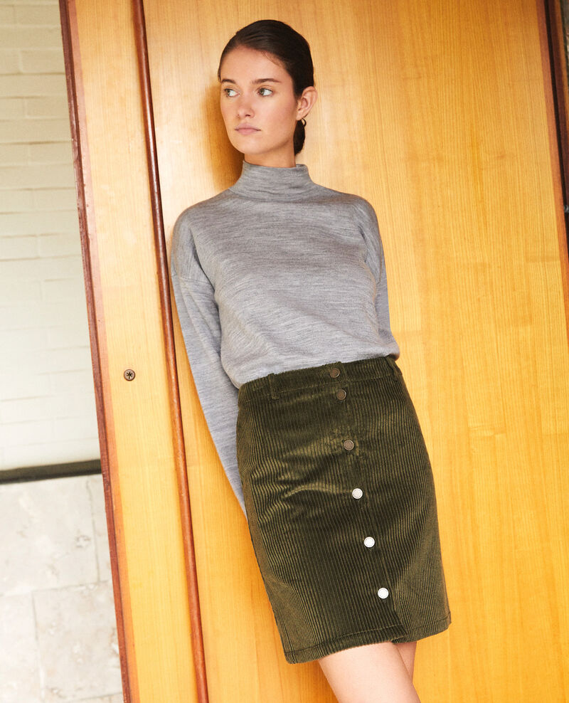 Falda de pana gruesa Olive night Gammon