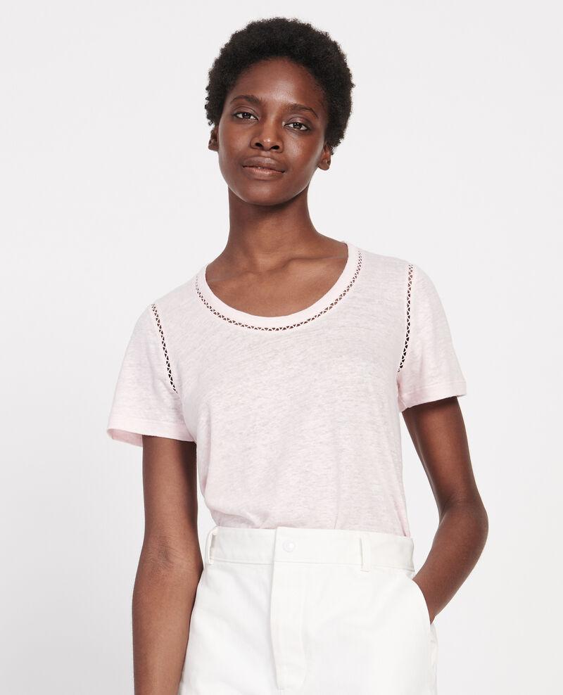Camiseta de lino de jersey Primrose pink Lye