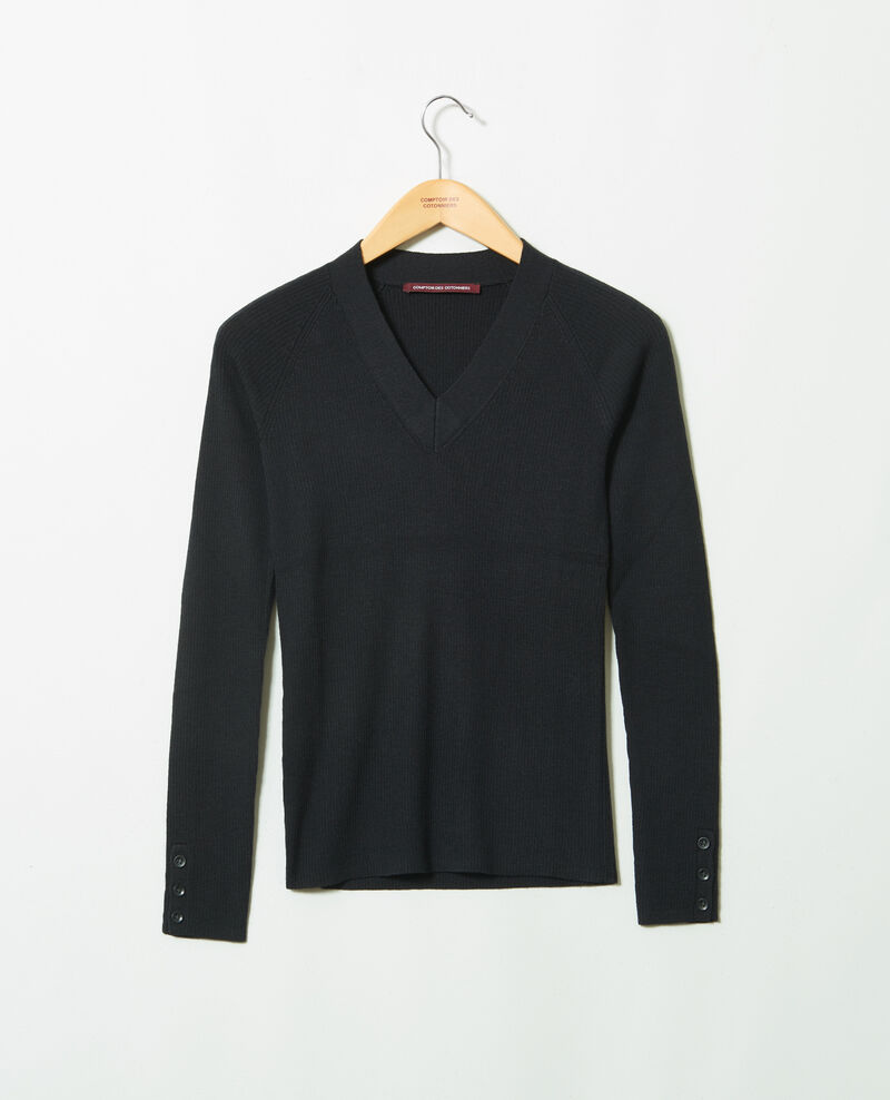 Jersey con cuello de pico Noir Jessou