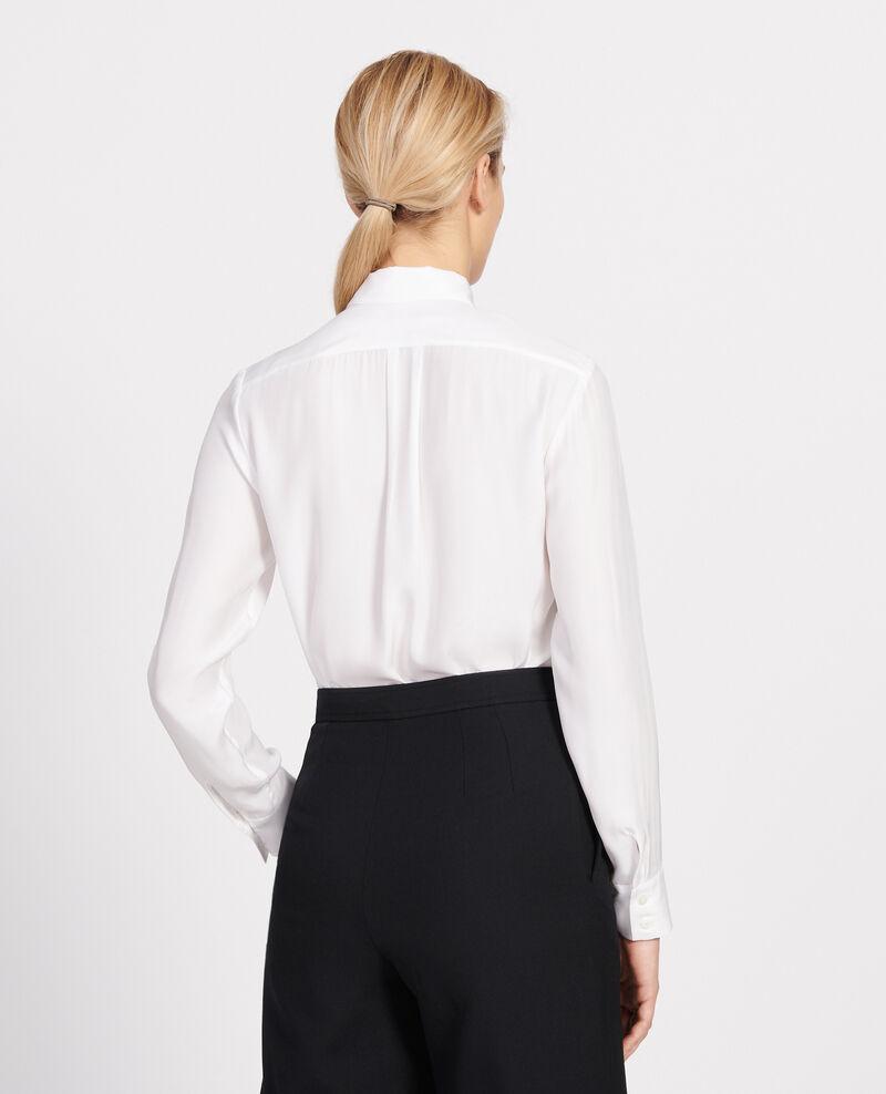 Camisa de seda Optical white Loriges