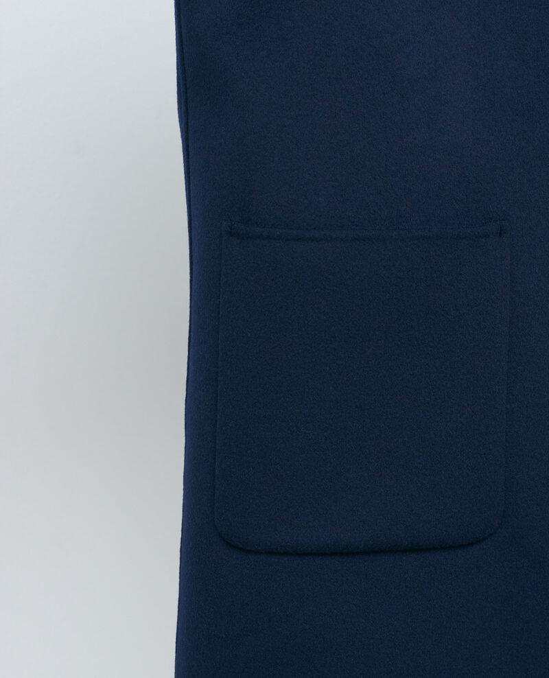 Abrigo de lana y cachemir de doble cara Night sky Pantin