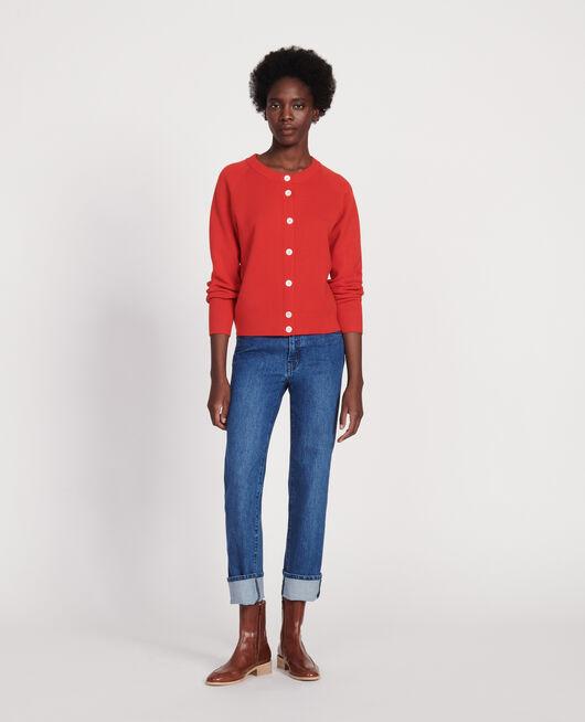 Jeans rectos en denim desteñido DENIM MEDIUM WASH