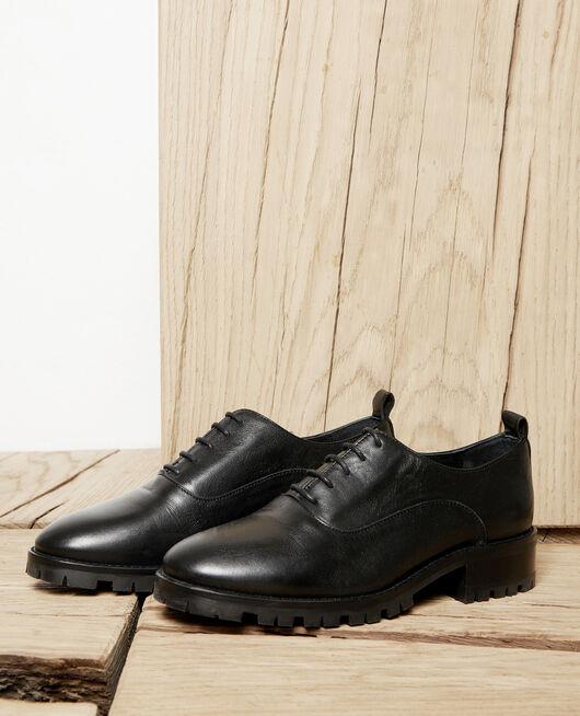 Zapatos  de cordones derbies de cuero NOIR