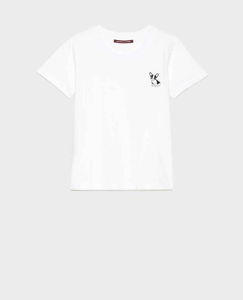 Camiseta de algodón Léon Optical white Lenou