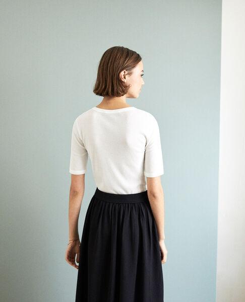 Comptoir des Cotonniers - Camiseta canalé  Off white - 3