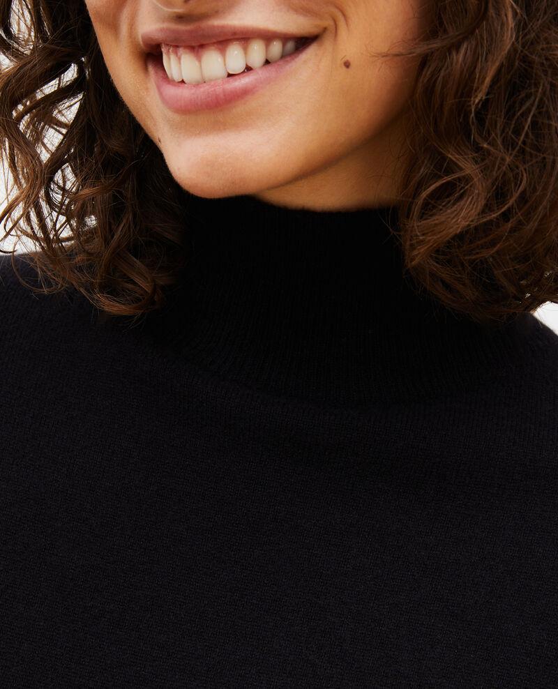 Vestido jersey de cachemir Black beauty Manin
